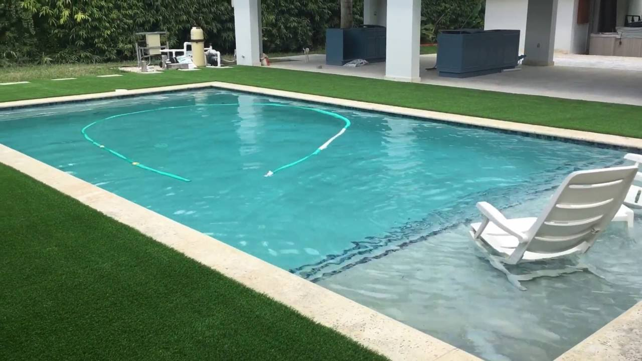 Pool Area Backyard - Artificial Grass - YouTube
