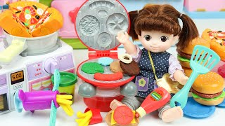 Baby doll Kitchen cooking toys…