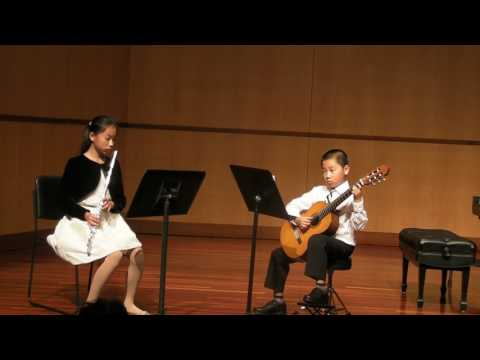 Simple Gift, Guitar and Flute Duet