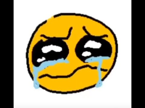 Cursed emoji crying with autotune and more faces - YouTube