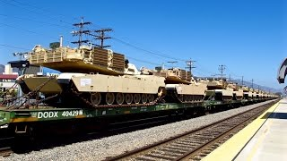 BNSF Military Special Trains in 4K Resolution