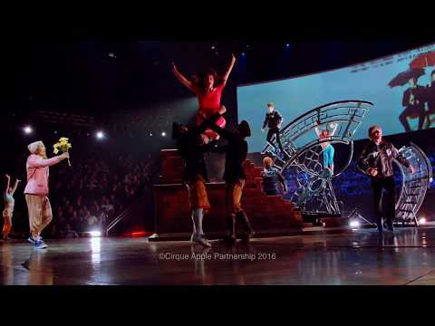 "Acrobatic choreographies for the Beatles ""Love"" by Cirque du Soleil"