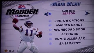 Madden 2002 (N64) | Super Bowl Finale Featuring Brett Farve