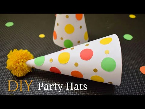 DIY Party Hats | #Birthday Party Hats with Paper | DIY Confetti Party Hats | Birthday Party Ideas