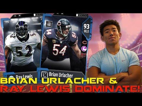 WE GET 93 OVR BRIAN URLACHER! RAY LEWIS & URLACHER DOMINATE! Madden 18 Ultimate Team