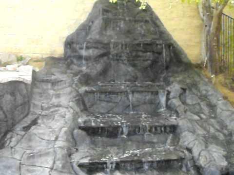 Cascada De Piedra Artificial Youtube