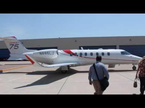 Fast climb in a Learjet 75
