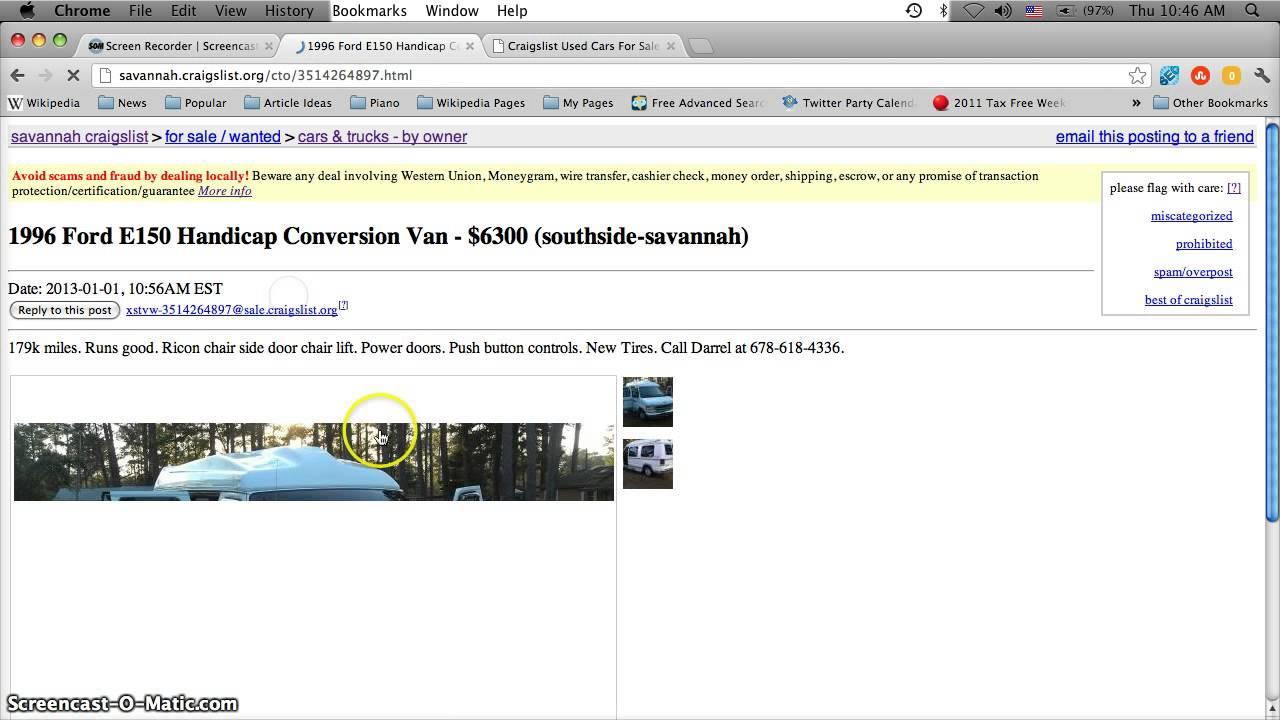 Craigslist Handicap Vans For Sale By Owner In Georgia