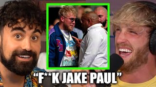 "LOGAN PAUL REACTS TO ""F**K JAKE PAUL"" CHANTS (UFC 261)"