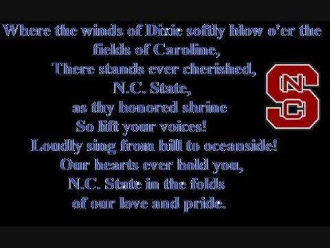 NC State Alma Mater Lyrics