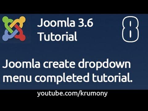 Joomla Create Dropdown Menu Completed Tutorial - Krumony