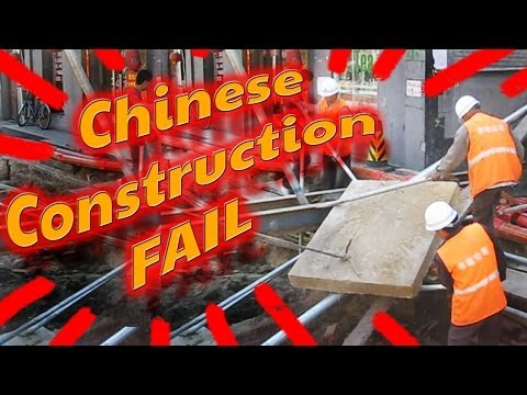 Epic Chinese Construction Fail in Beijing, China // Quality Control in China is a Crapshoot