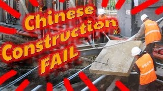 Epic Chinese Construction Fail w/o Heavy Equipment in Beijing, China