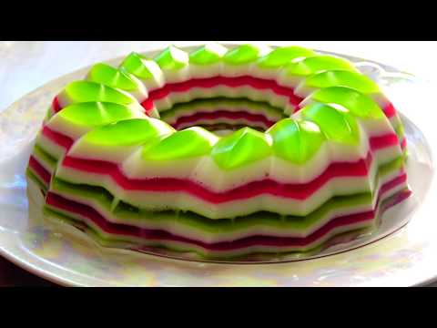 ЖЕЛЕЙНЫЙ ТОРТ/Торт Без Выпечки из ЖЕЛЕ/Вкусный рецепт от Тортании