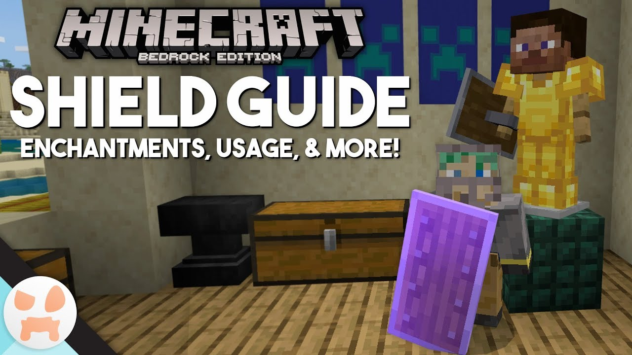 SHIELD GUIDE! - Enchantments, Uses, & more  Minecraft Bedrock 12.120