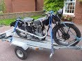 1934 Vintage Triumph 250 motorcycle strip & rebuild. Part I