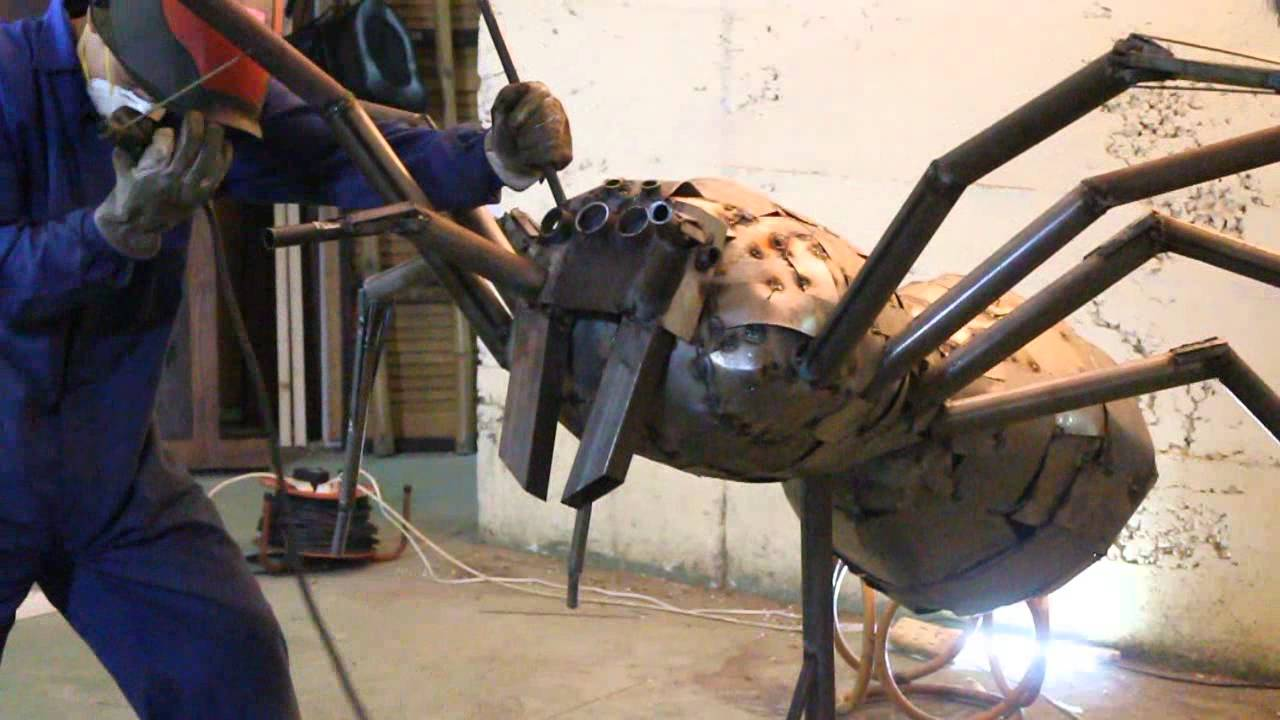 Welding Art Spider Concept Time Lapse Youtube