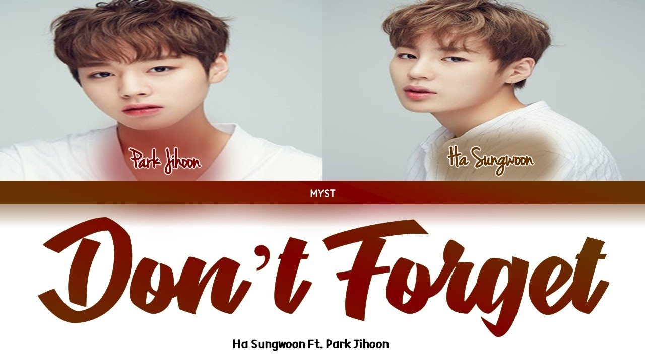Ha Sungwoon Ft Park Jihoon Don T Forget Color Coded Lyrics Han