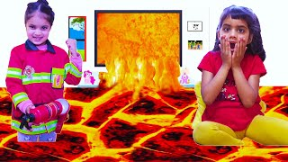 Ashu and Cutie Floor is Lava Fun Stories for Children