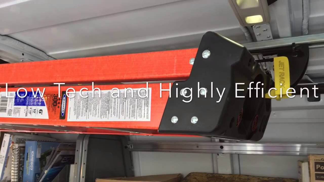 A Ladder With Jet Rack In A Contractor S Van Youtube