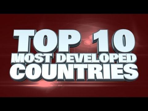 Top 10 Most Developed Countries in the World 2014