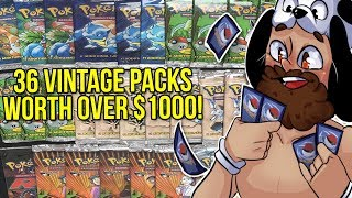 Opening OVER $1000 Worth of VINTAGE Pokemon Packs! - 1M Sub Pokemon Special!