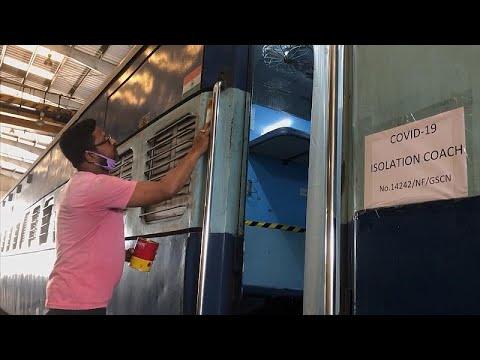 Video | Hindistan'da tren vagonları Covid-19 tedavi merkezlerine dönüştürüldü