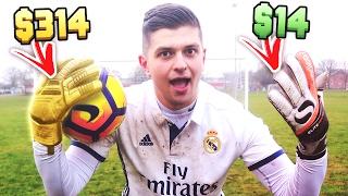 $14 Vs. $314 FOOTBALL GOALIE GLOVES!! - Worth The Price?