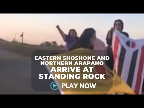 Eastern Shoshone and Northern Arapaho arrive at Standing Rock. - Native Daily Network.