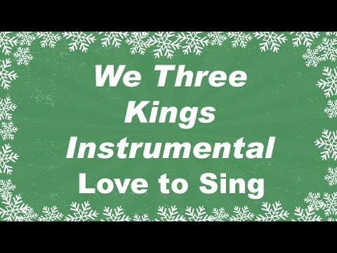 We Three Kings Instrumental Music | Karaoke Christmas Song with Lyrics