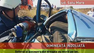 Accident mortal pe șoseaua dintre Carei și Petrești