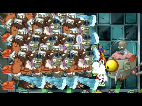 Plants vs Zombies 2 Epic Hack : The Sloth Gargantuar vs Each Freakin' Zombots (with Crazy Lawn)