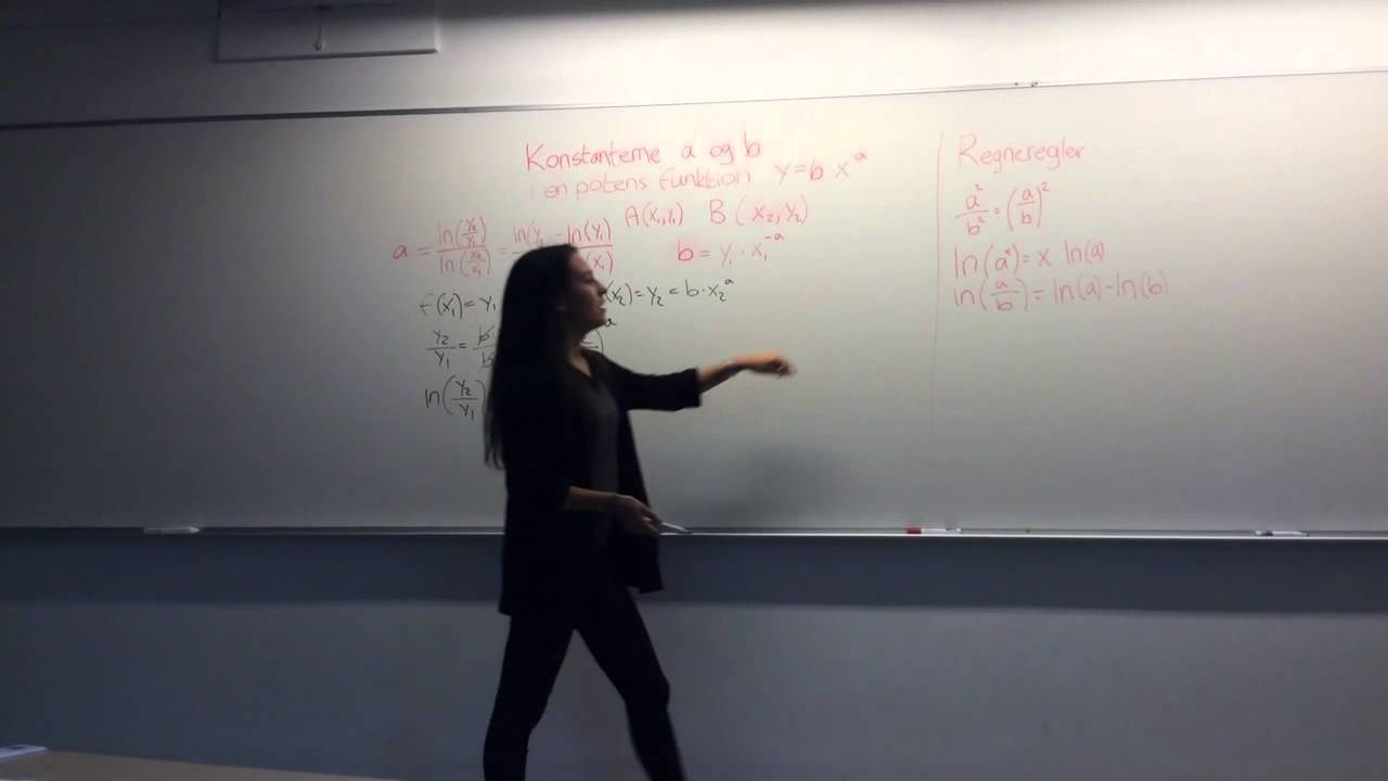 Beregning af a og b - potens