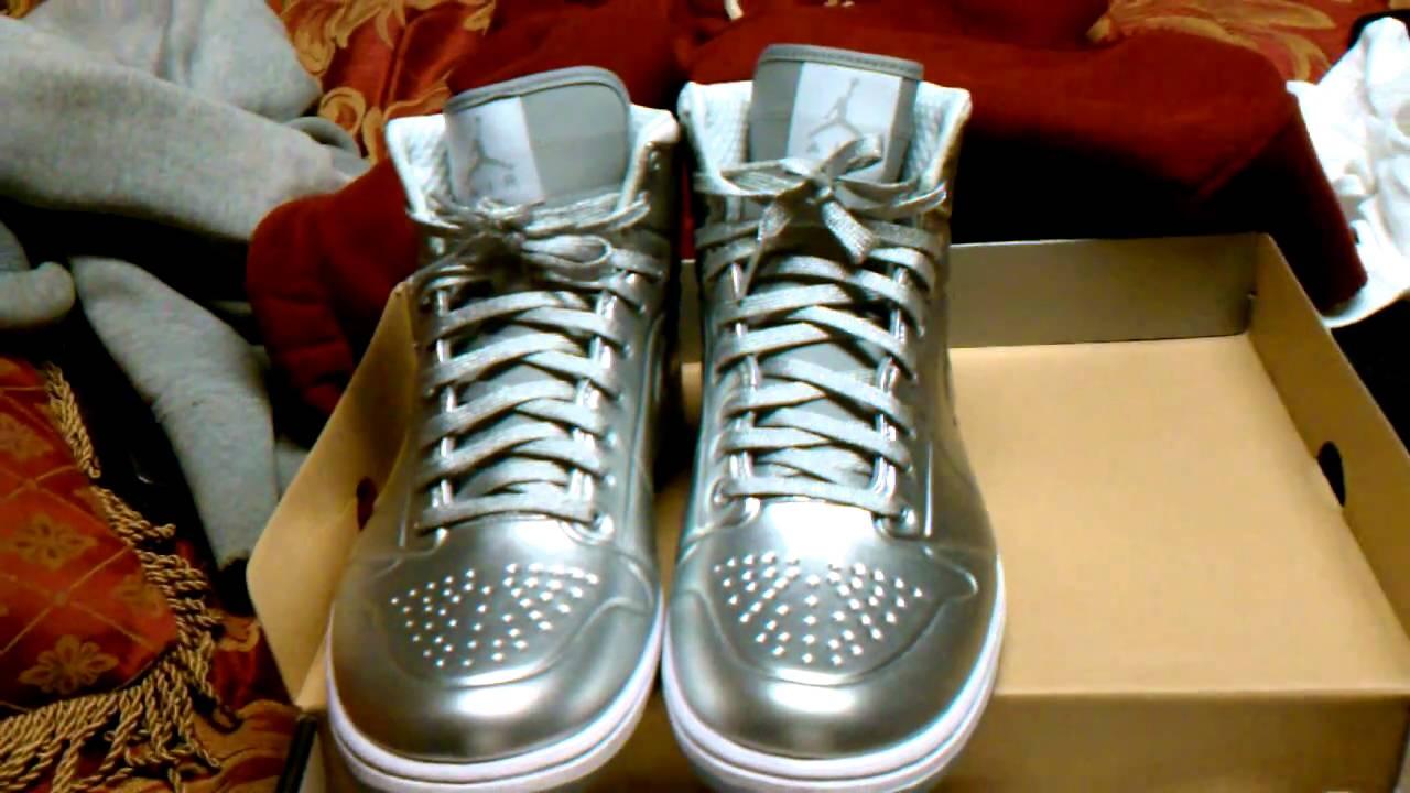 check out ff013 4cfc8 Air Jordan 1 Anodized Foamposite Metallic Silver White