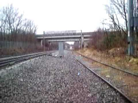 MBTA Commuter Rail flies toward Mansfield Station