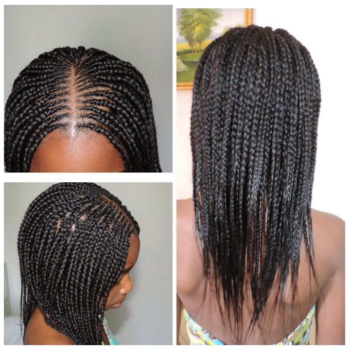 HOW TO MAKE LOOSE BOX BRAIDS WITH FEATHER TIPS. (Cornrow
