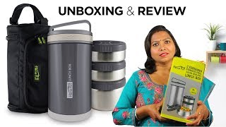 Homepuff Lunchbox Unboxing | Lunch box Review | Product Review | food challenge | lunchbox ideas