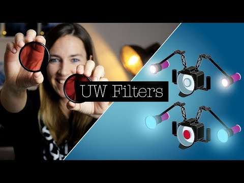 FILTERS FOR UNDERWATER VIDEOGRAPHY (Red Filter, Magenta Filter, Ambient Light Filter)