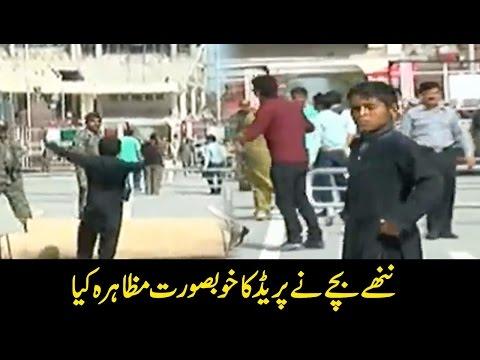 Child Army parade on Wagah Border