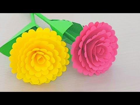 Simple Easy Paper Flowers Handmade Craft Making Flower Step By