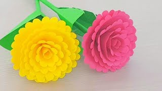 Simple & Easy Paper Flowers - Handmade Craft - Making Flower Step by Step - Home Decorations Ideas