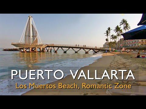 Los Muertos Beach, Puerto Vallarta, beautiful stroll in the morning hours