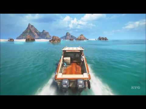 Uncharted 4: A Thief's End - Boat Gameplay (PS4 HD) [1080p60FPS]