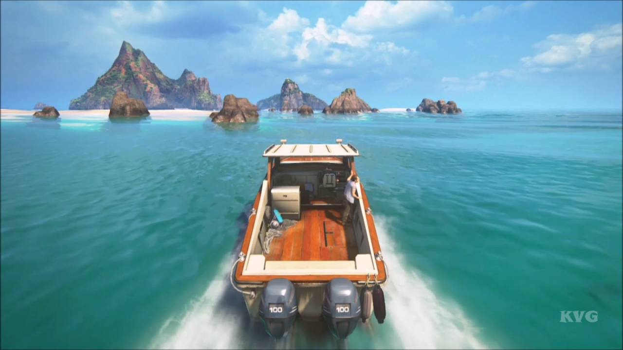 Uncharted 4 a thief 39 s end boat gameplay ps4 hd for Playstation 4 fishing games