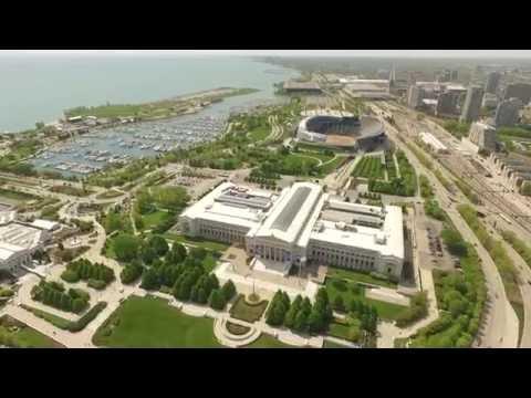 Millennium Park Chicago Drone Video