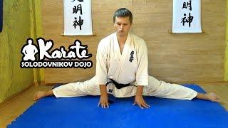 Как сесть на шпагат / разминочный комплекс / stretching kyokushinkai karate кекусинкай карате