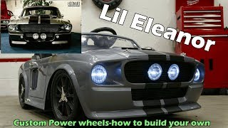 Kids size Eleanor Mustang build- Product overview and build details