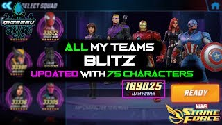 Best Blitz Teams (Updated For ALL 75 Characters) - Marvel Strike Force - MSF