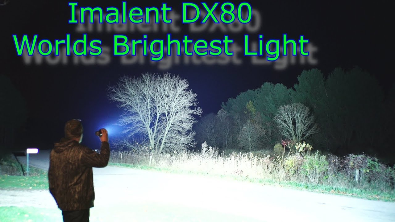 Worlds Brightest Flashlight Imalent Dx80