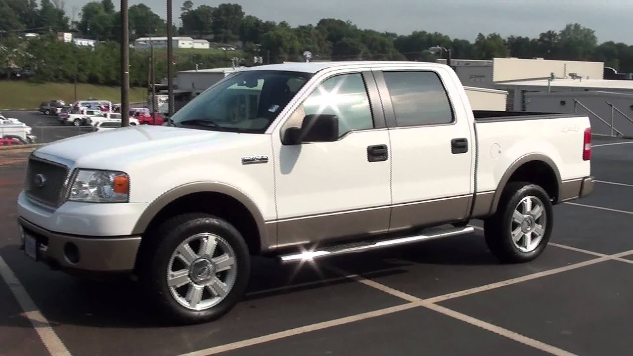 For sale 2006 ford f 150 lariat 1 owner leather capt chairs stk p5671 youtube